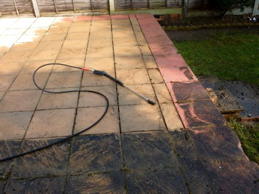 Patio cleaning Acton London W3 -before
